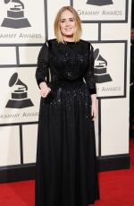 ADELE at Grammy Awards 2016 in Los Angeles 02/15/2016
