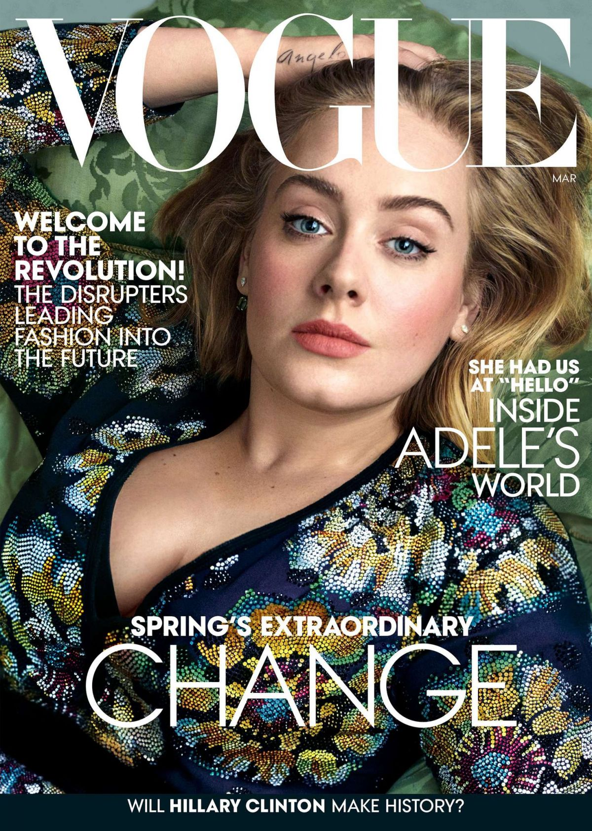 ADELE in Vogue Magazine, March 2016 Issue