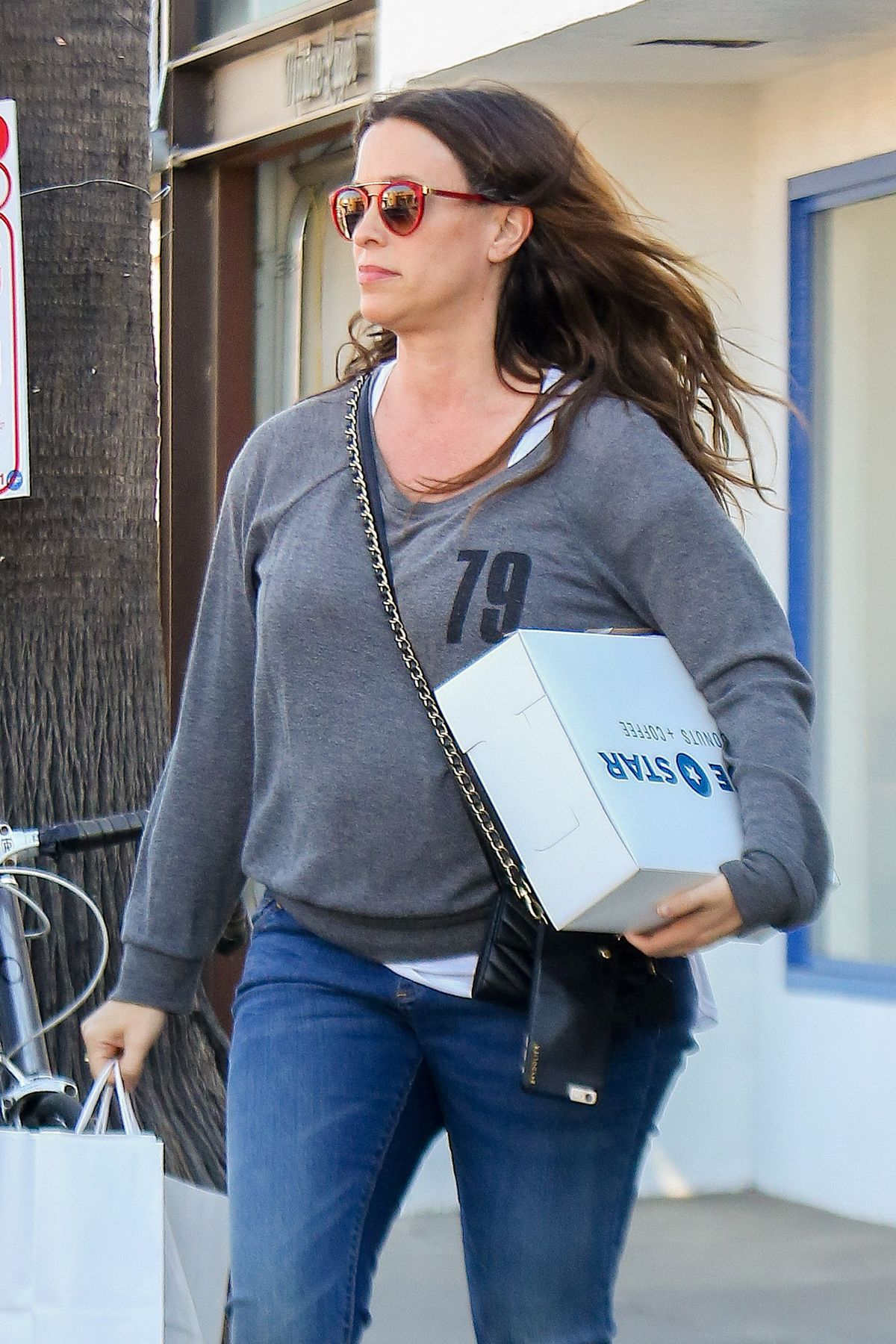 ALANIS MORISSETTE Shopping on Abbot Kinney Blvd in Los Angeles 02/03/2016