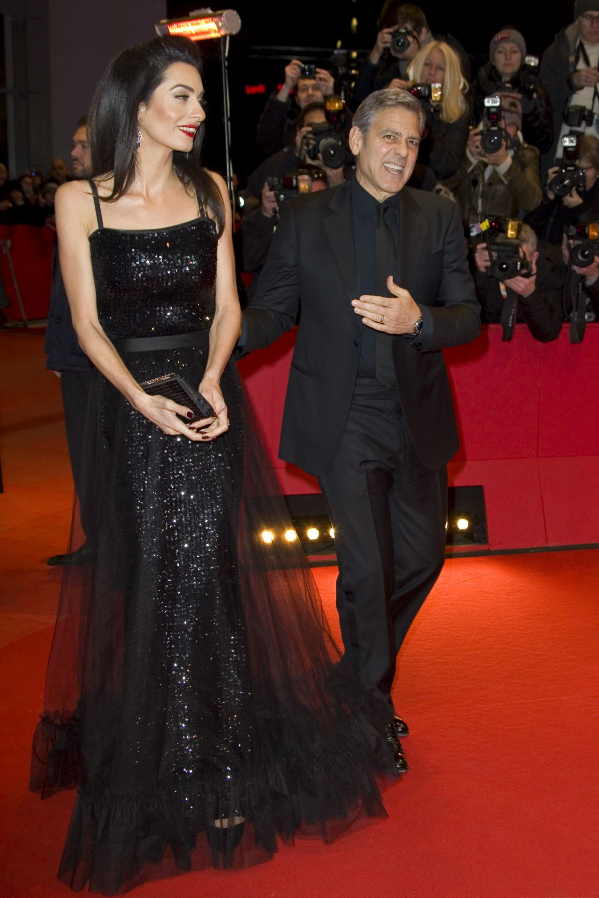 AMAL CLOONEY at Hail. Ceasear! Premiere in Berlin 02/11/2116