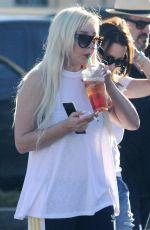 AMANDA BYNES at a Starbucks in Los Angeles 02/17/2016