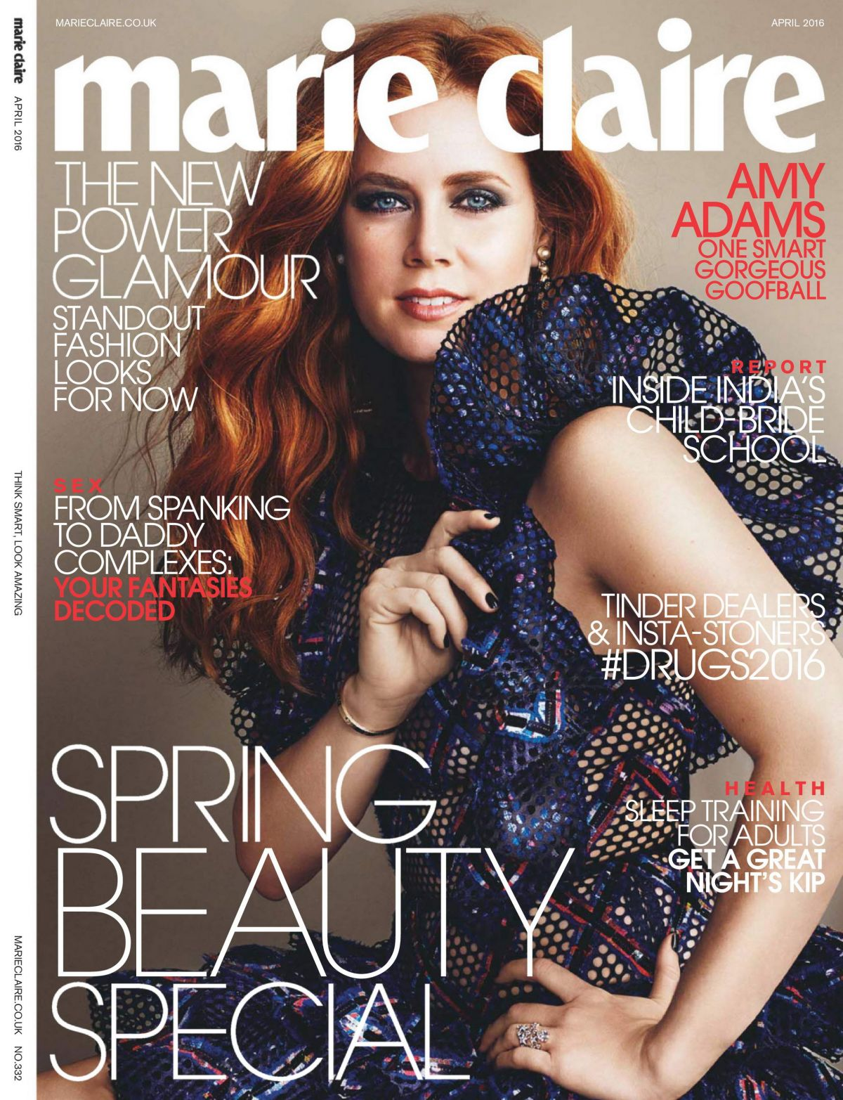 AMY ADAMS in Marie Claire Magazine, UK April 2016 Issue