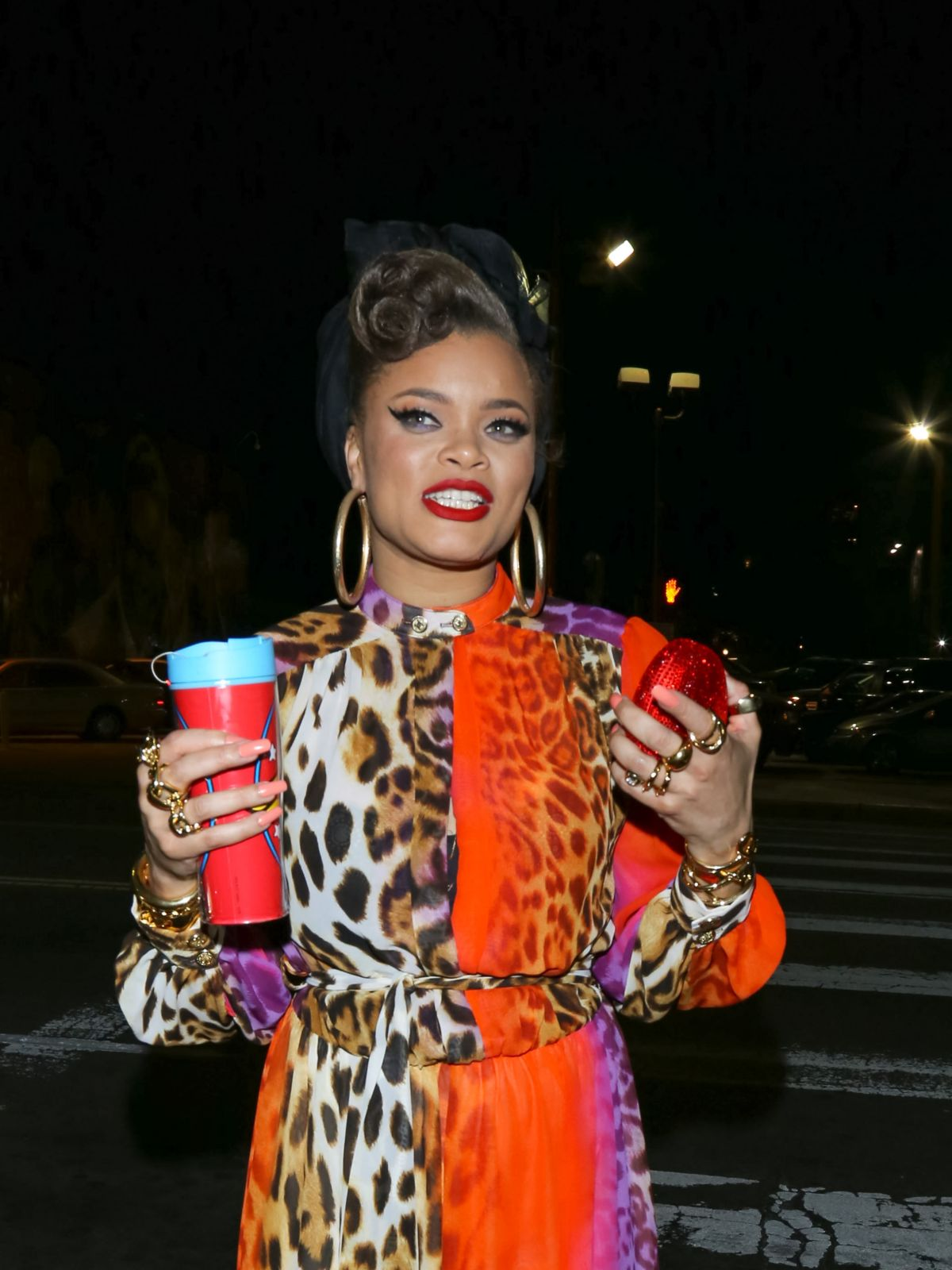 ANDRA DAY Arrives at Avalon Nightclub in Los Angeles 02/11/2016