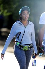 ANGELA SIMMONS Out Hiking in Los Angeles 02/03/2016
