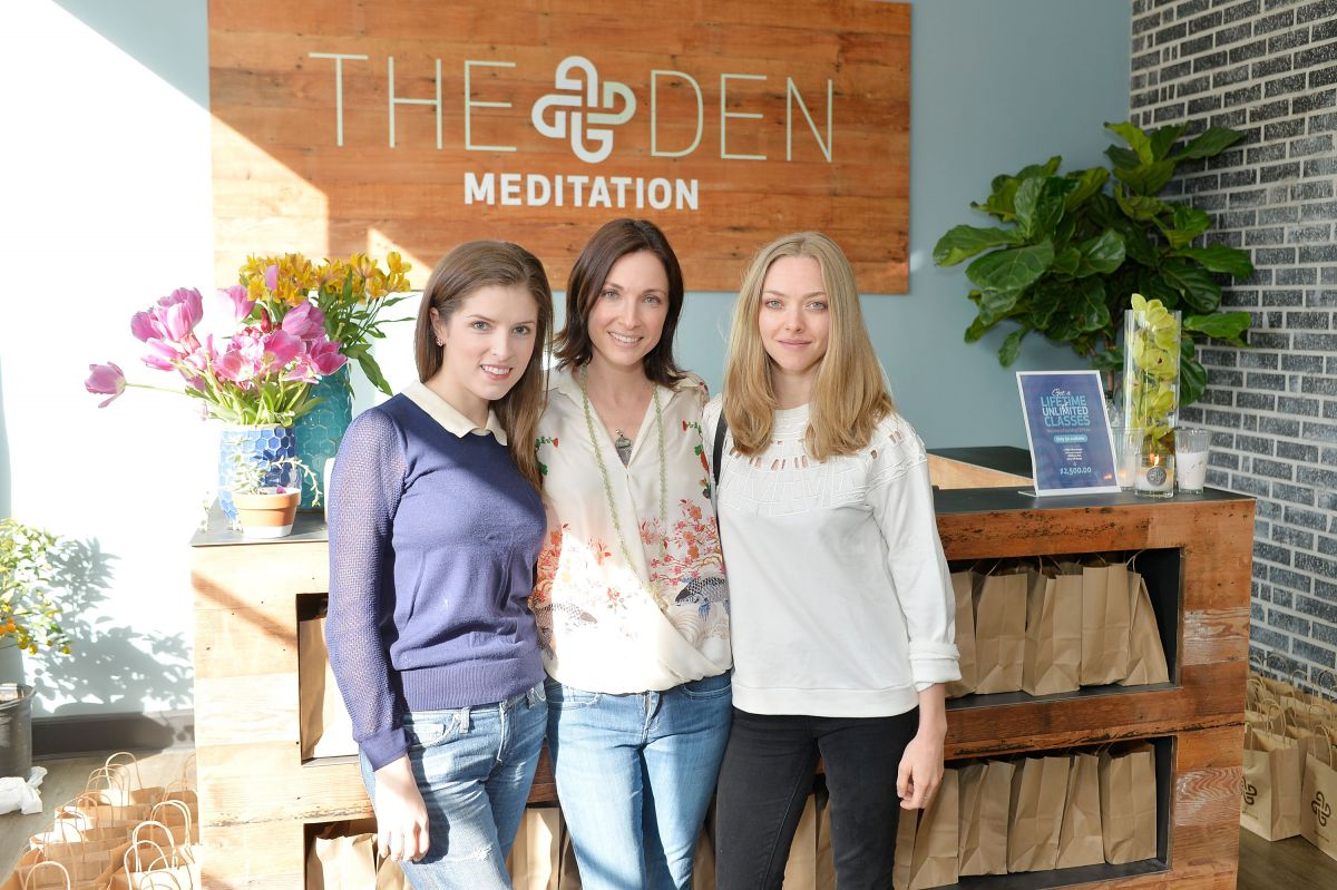 ANNA KENDRICK and AMANDA SEYFRIED at Den Meditation Studio Opening in Los Angeles 01/31/2016