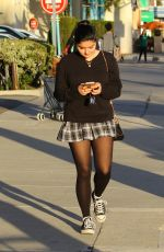 ARIEL WINTER in Short Plaid Skirt Out in Studio City 02/04/2016