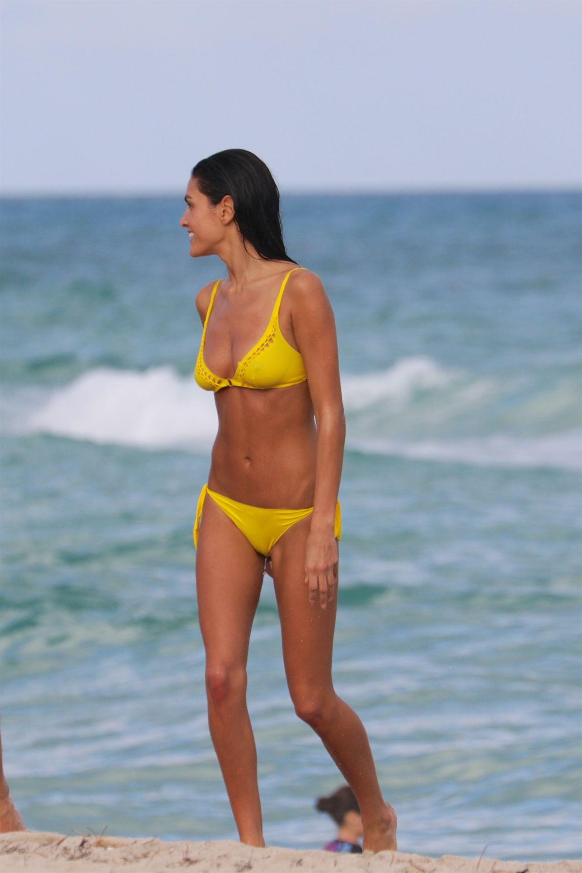 BARBARA NOGUEIRA in Bikini at a Beach in Miami 02/04/2016