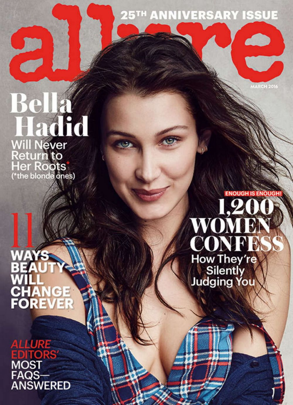 BELLA HADID in Allure Magazine, March 2016 Issue