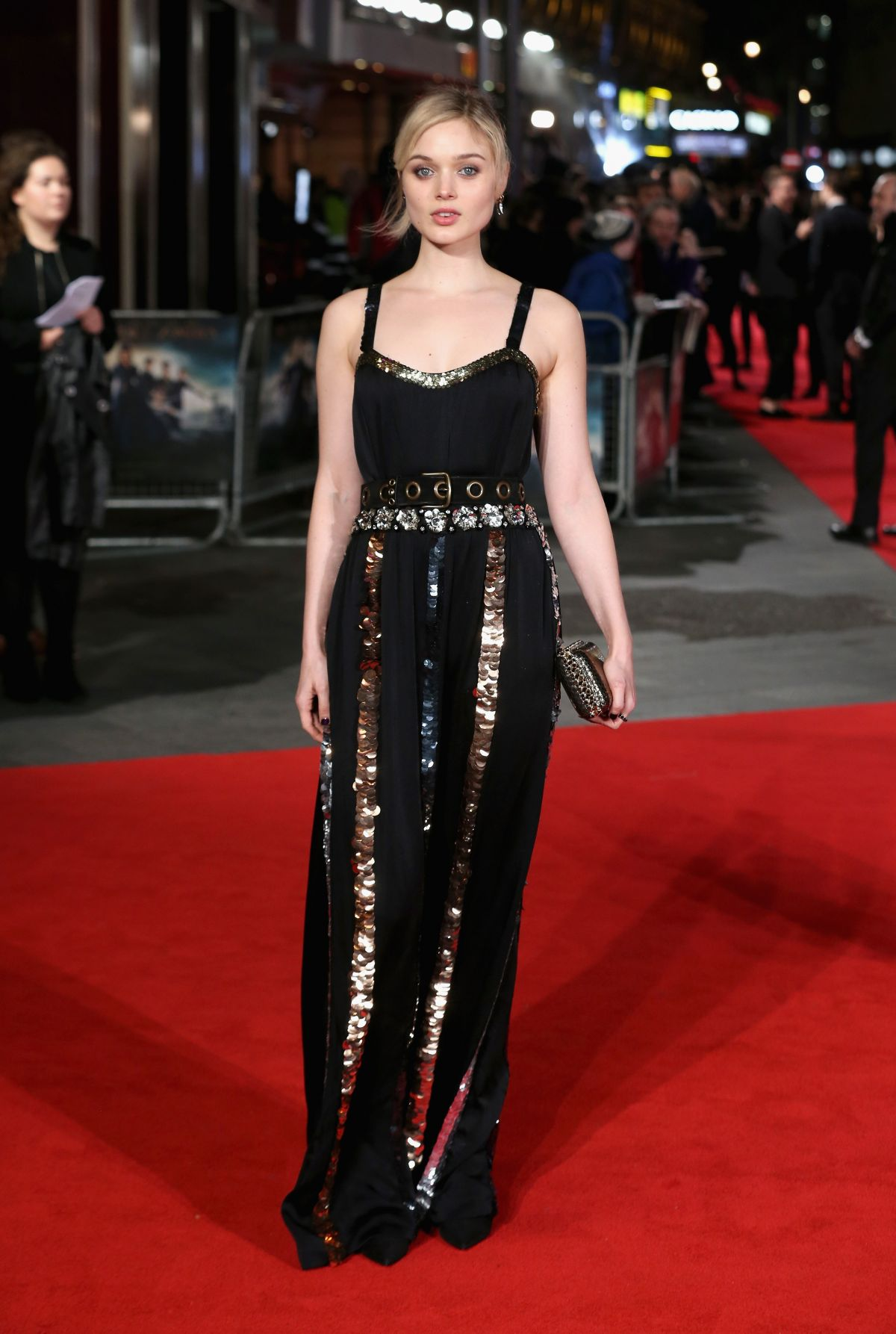 BELLA HEATHCOTE at Pride and Prejudice and Zombies Premiere in London 02/01/2016