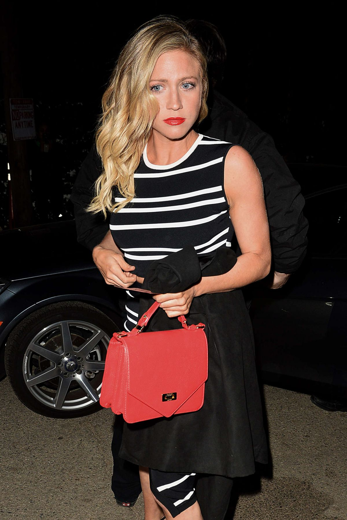 BRITTANY SNOW Leaves a Pre-oscar Talent Agency Party 02/27/2016