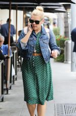 BUSY PHILIPPS Out for Lunch at La Scala in Beverly Hills 02/17/2016