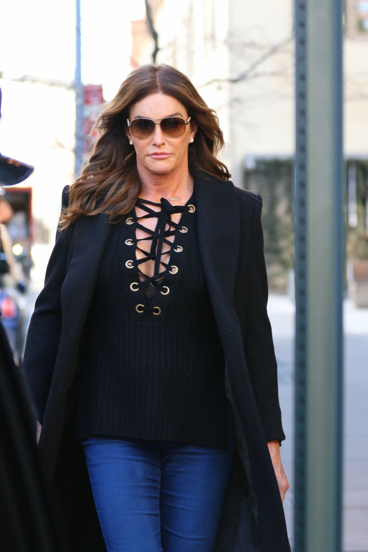 CAITLYN JENNER Leaves Her Hotel in New York 02/11/2016