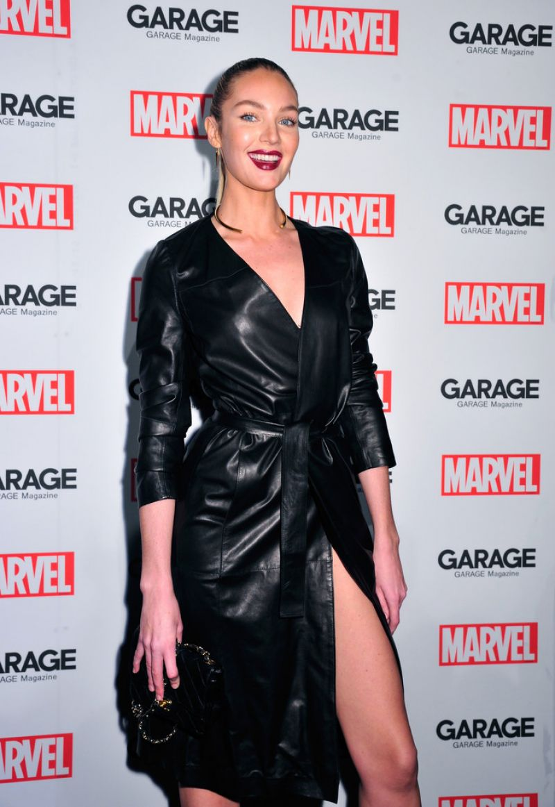 CANDICE SWANEPOEL at Marvel and Garage Magazine New York Fashion Week Event 02/11/2016