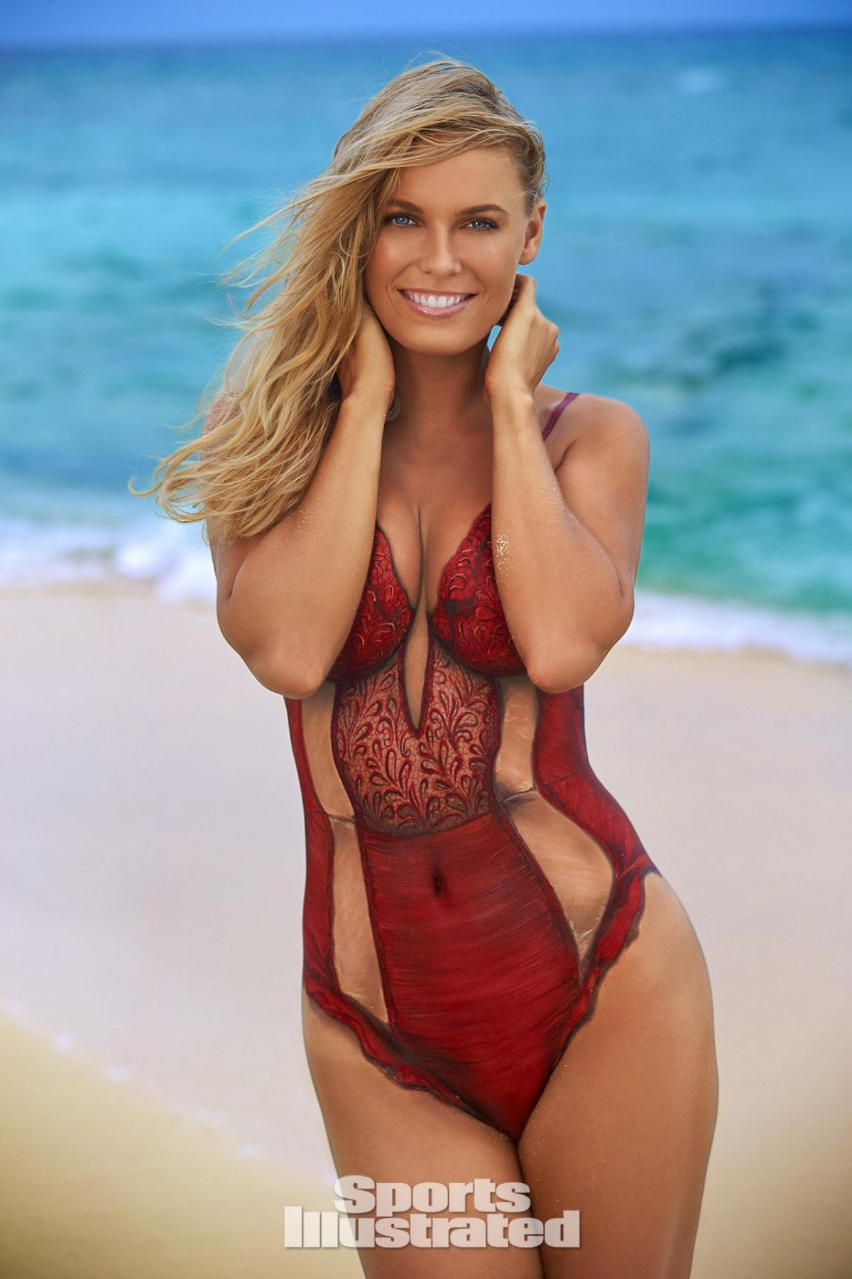 CAROLINE WOZNIACKI in Sports Illustrated Swimsuit Bodypaint Issue 2016