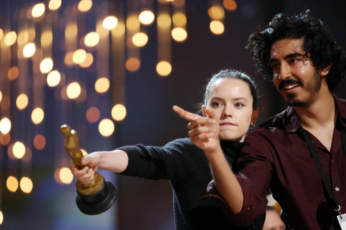DAISY RIDLEY Rehearsing for 88th Annual Academy Awards in Hollywood 02/27/2016