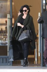 DEMI LOVATO Leaves Barneys New York in Beverly Hills 02/03/2016