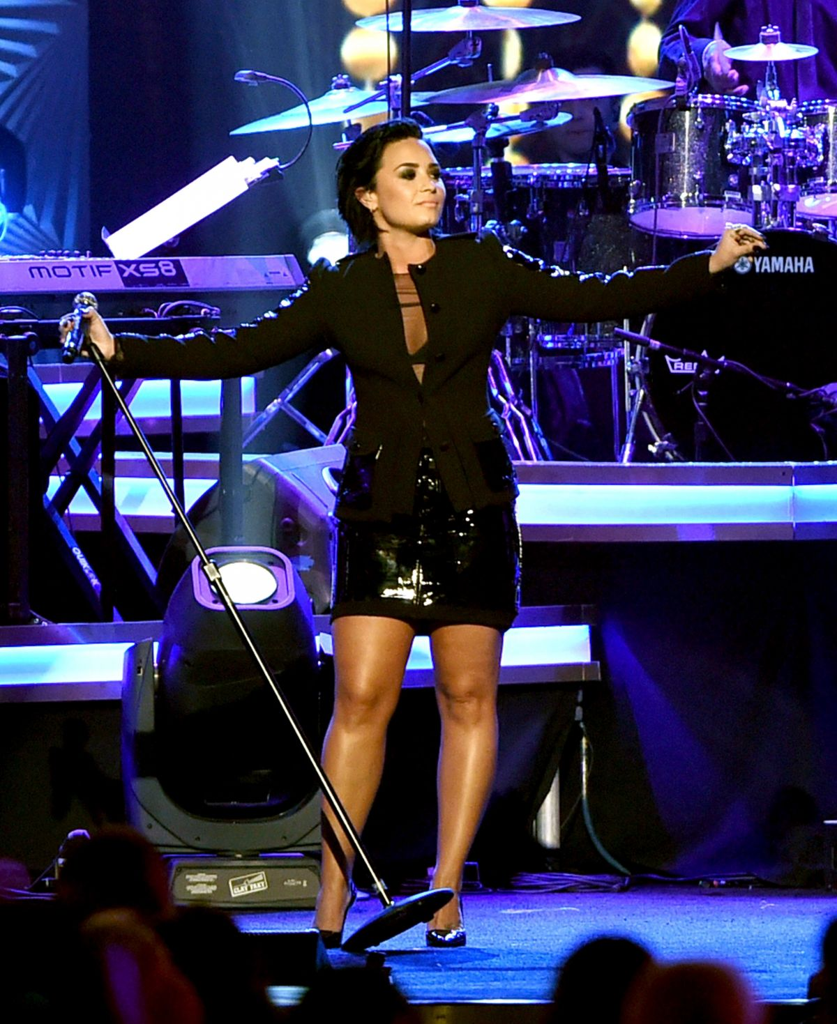 DEMI LOVATO Performs at 2016 Musicares Person of the Year Honoring Lionel Richie 02/13/2016