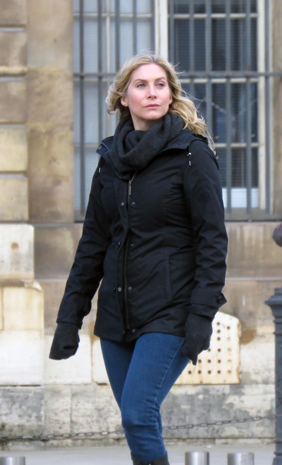 ELIZABETH MITCHELL Out at Tuileries Garden in Paris 02/03/2016