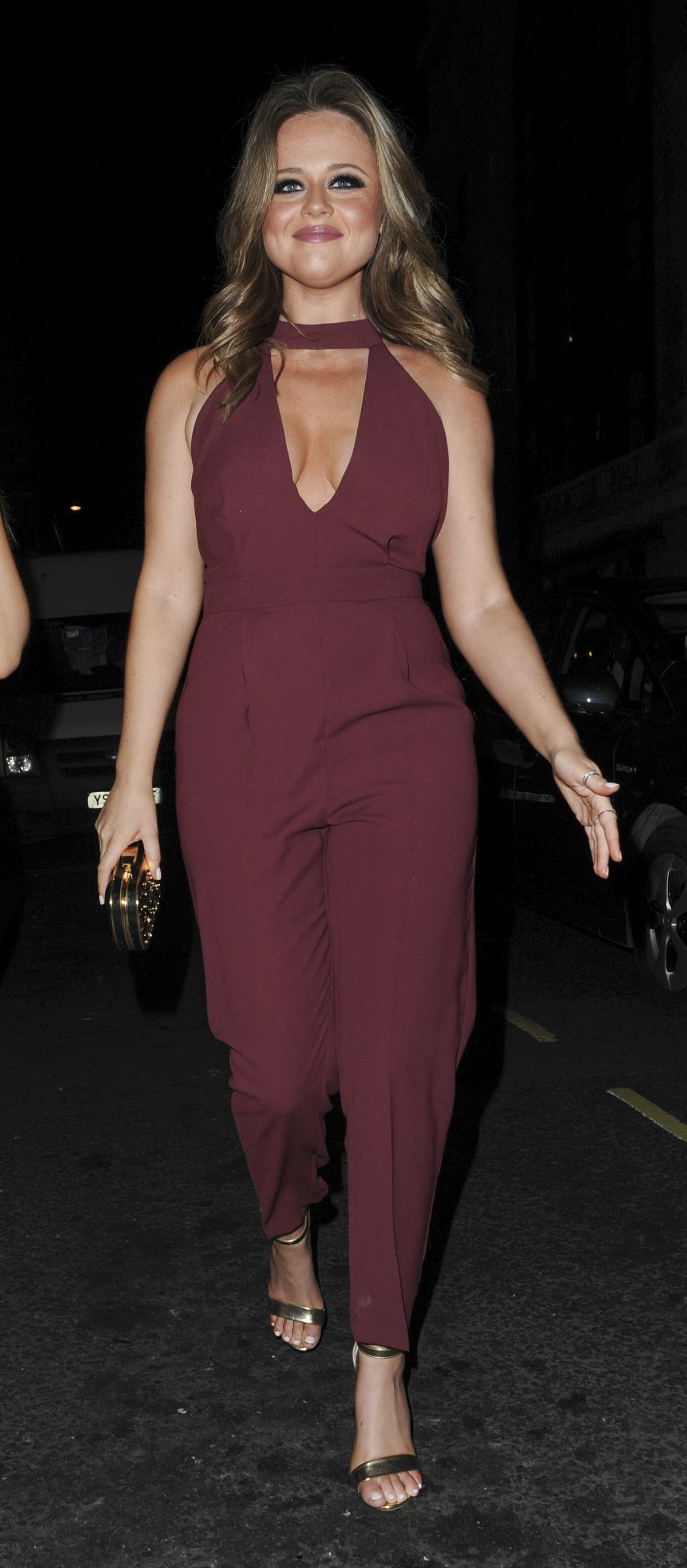 EMILY ATACK at Instyle and EE Rising Star Pre-bafta Party in London 02/04/2016