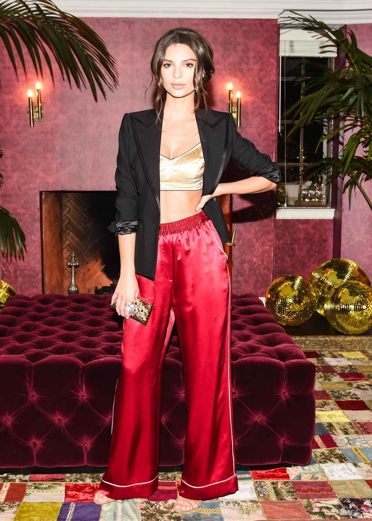 EMILY RATAJKOWSKI at Dolce & Gabbana Pyjama Party in Los Angeles 02/24/2016