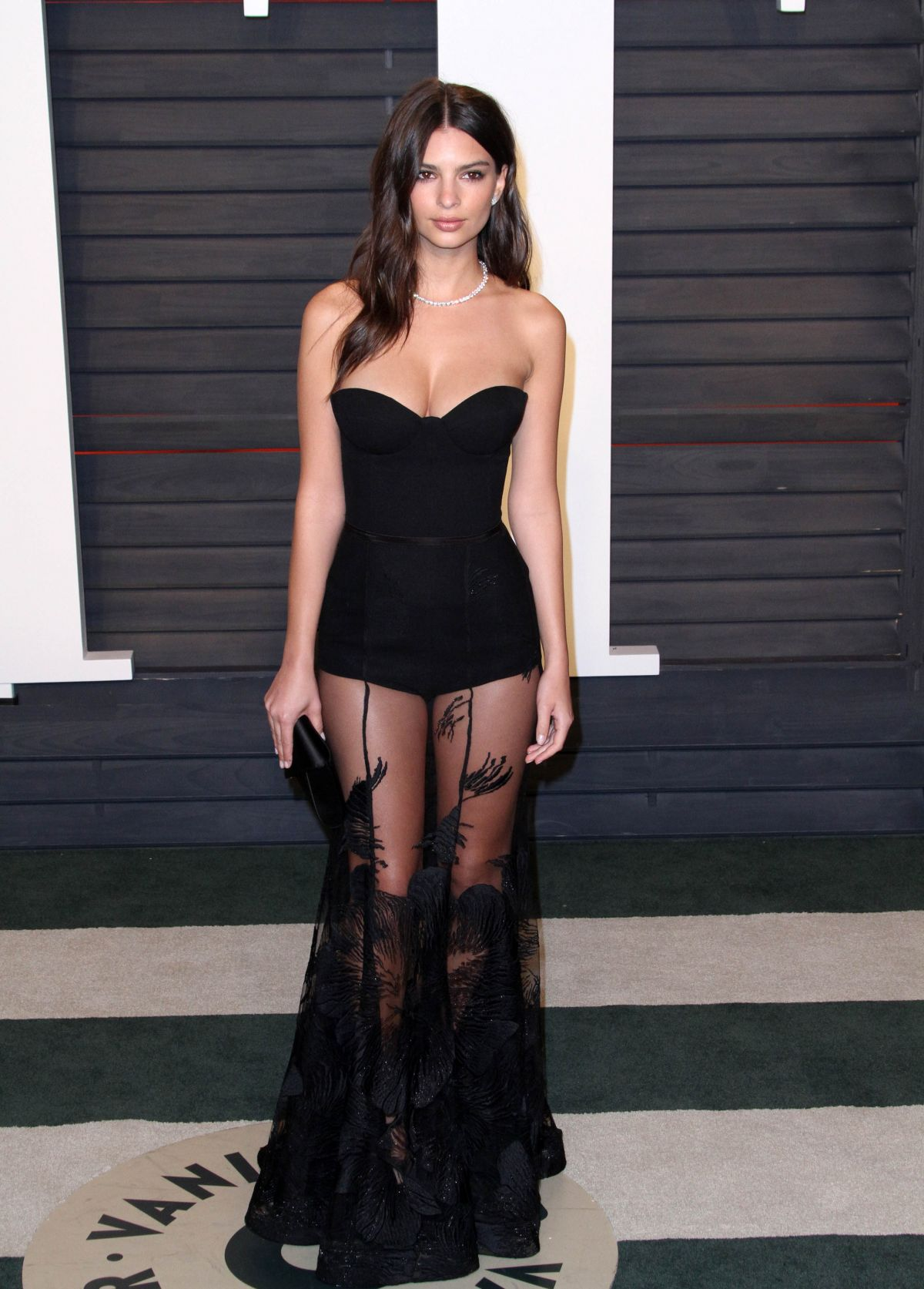 EMILY RATAJKOWSKI at Vanity Fair Oscar 2016 Party in Beverly Hills 02/28/2016