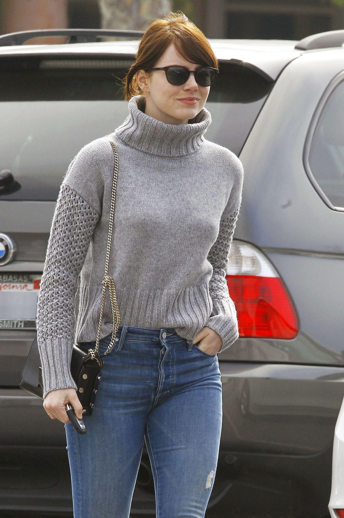 Emma Stone In Jeans Out In Malibu 02 14 2016 Hawtcelebs