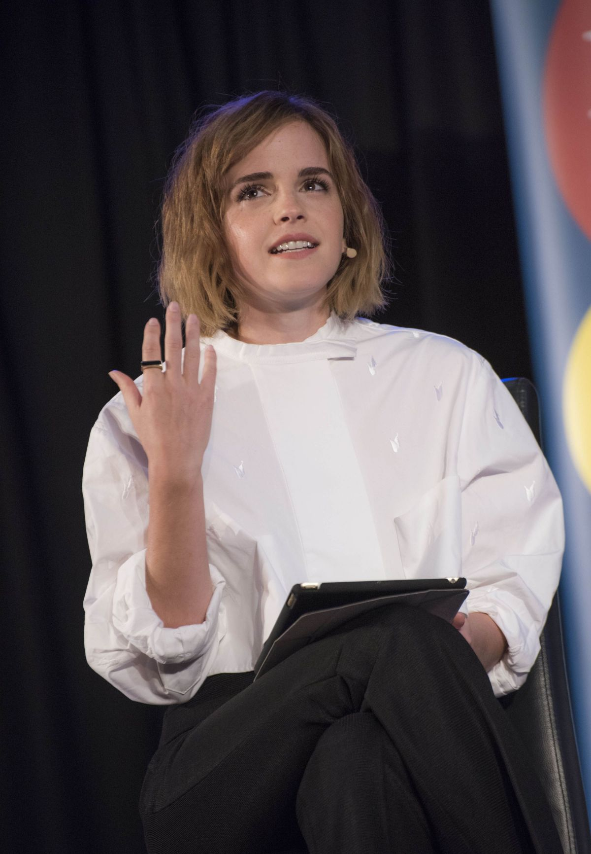 EMMA WATSON at Evening with Gloria Steinem at Emmanuel Centre in London 02/24/2016