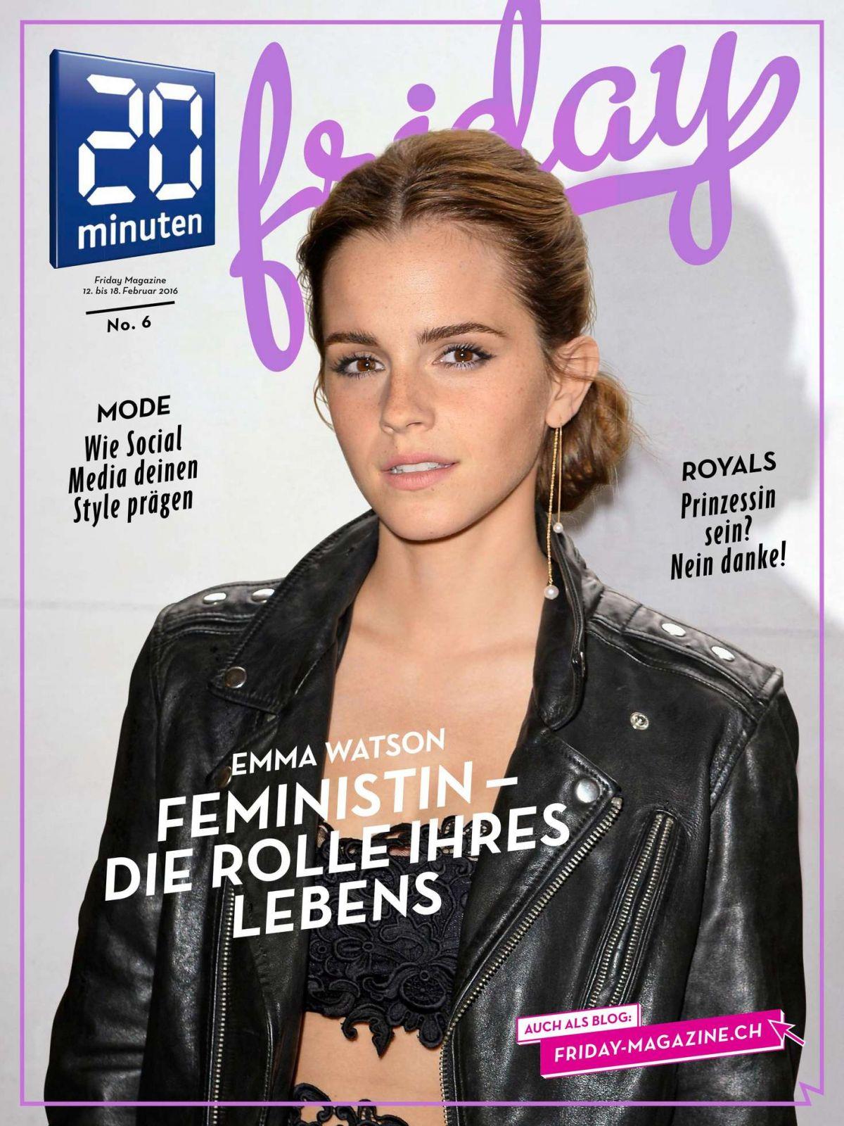 EMMA WATSON in 20 Minuten Friday No. 6, February 2016 Issue