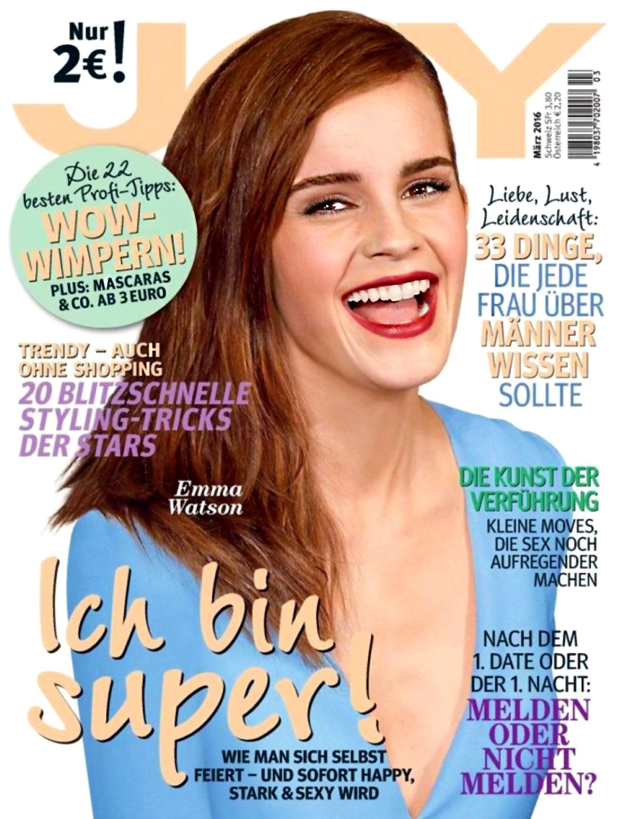 EMMA WATSON in Joy Magazine, March 2016 Issue
