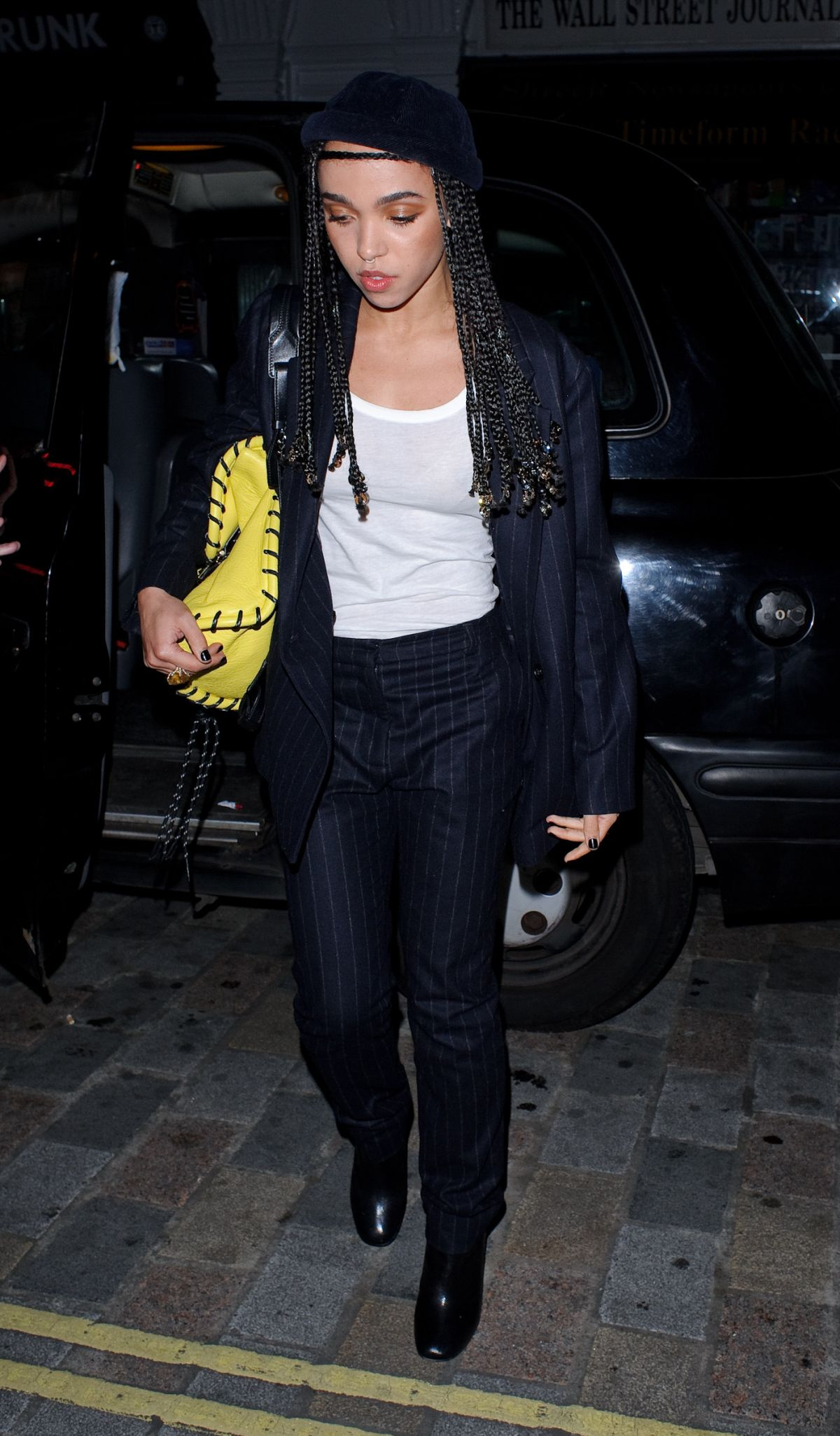 FKA TWIGS Arrives at Chiltern Firehouse in London 02/03/2016