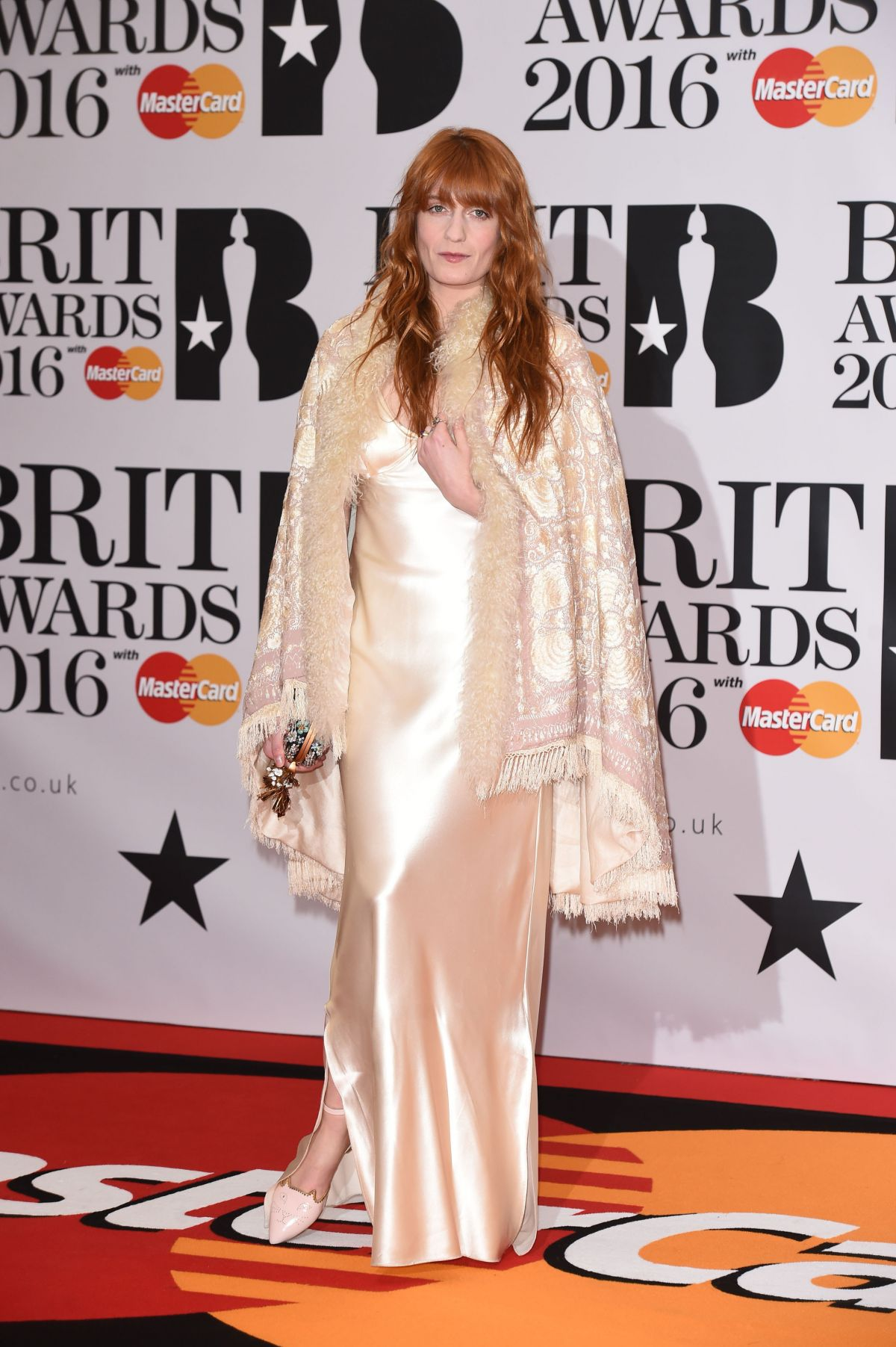 FLORENCE WELCH at Brit Awards 2016 in London 02/24/2016