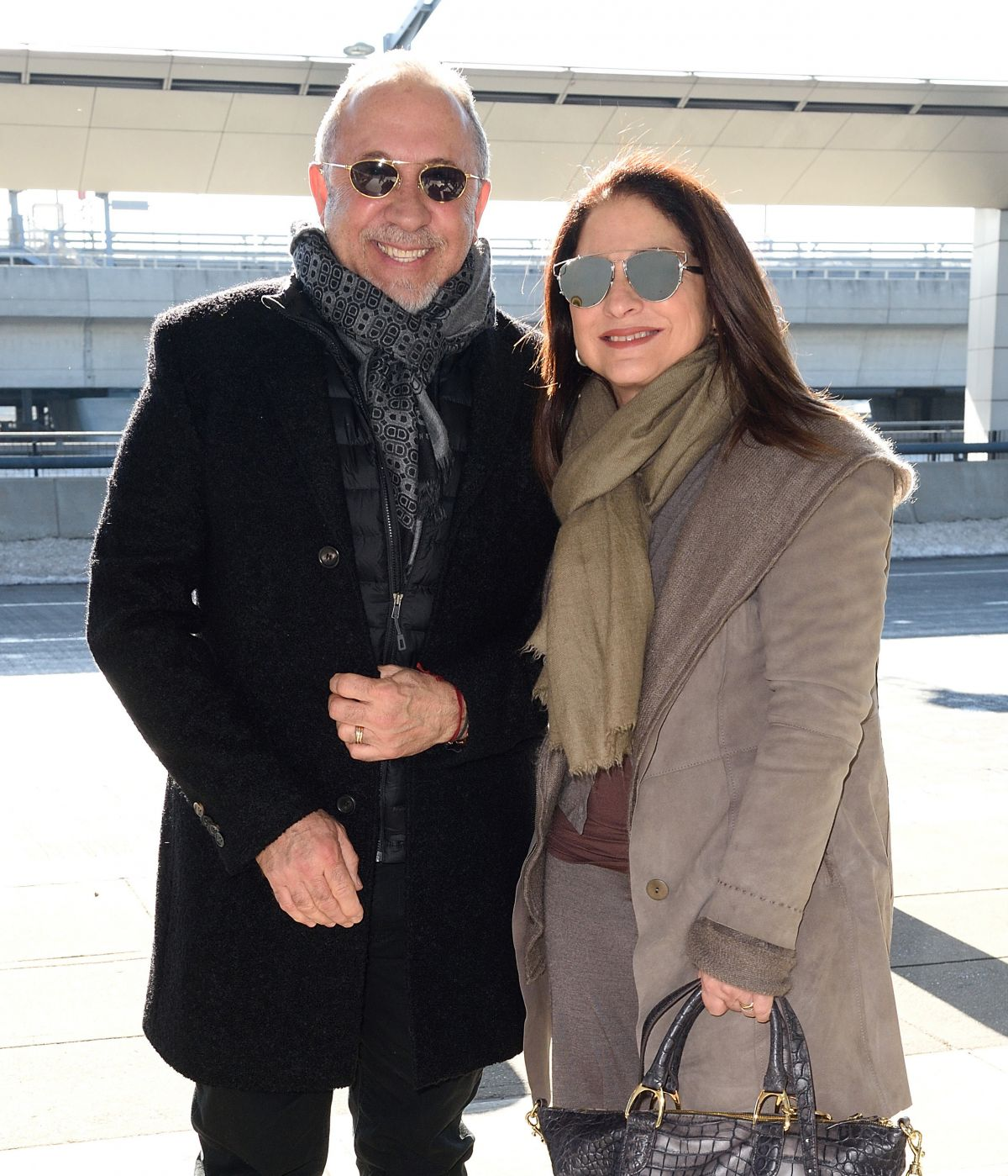 GLORIA and Emilio ESTEFAN at JFK Airport in New York 01/28/2016