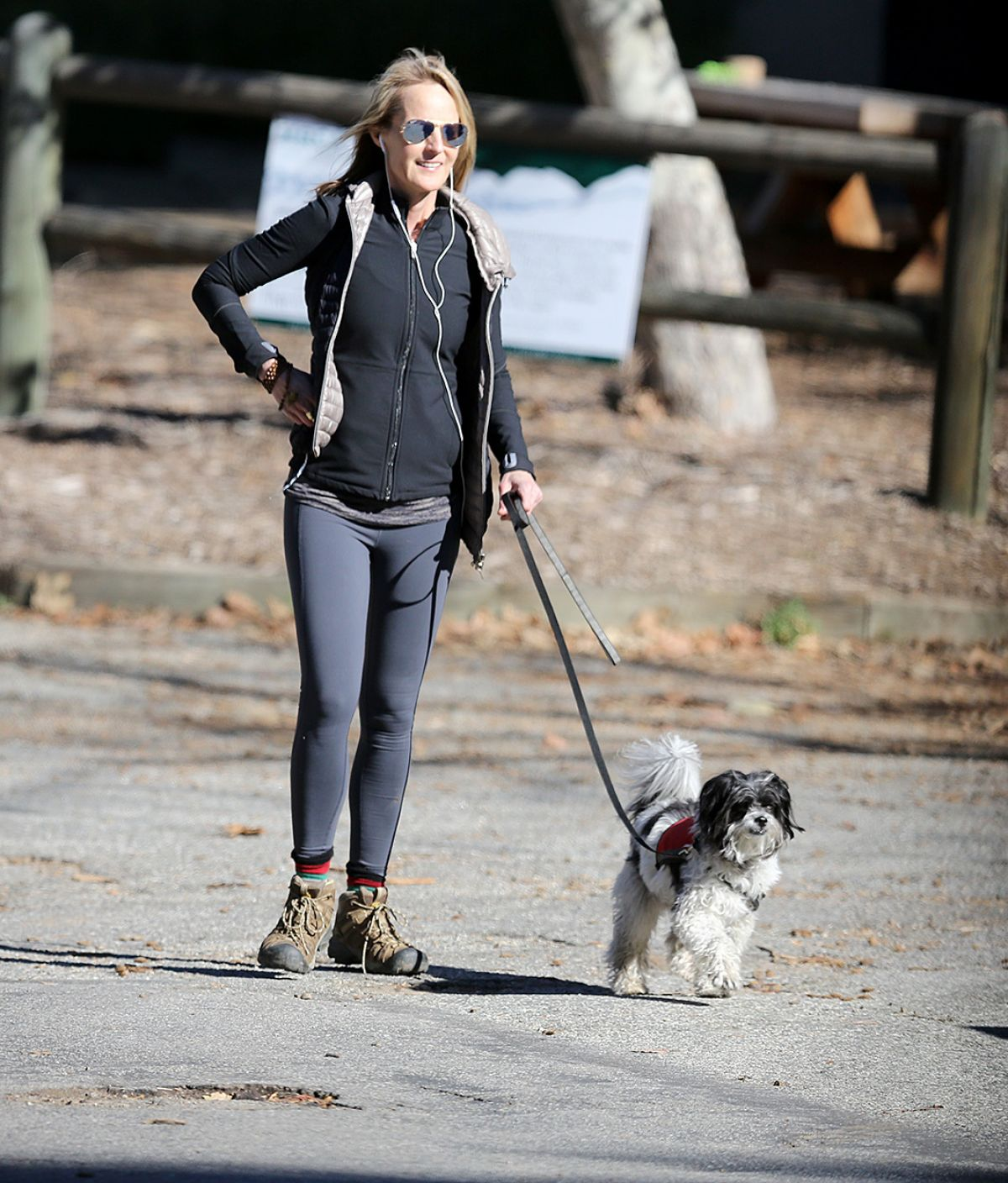 HELEN HUNT Walks Her Dog Out in Los Angeles 02/15/2016