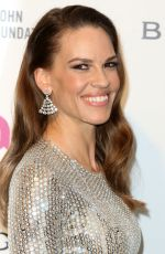 HILARY SWANK at Elton John Aids Foundation's Oscar Viewing Party in West Hollywood 02/28/2016