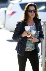 JANICE DICKINSON in Leggings Out in West Hollywood 02/10/2016