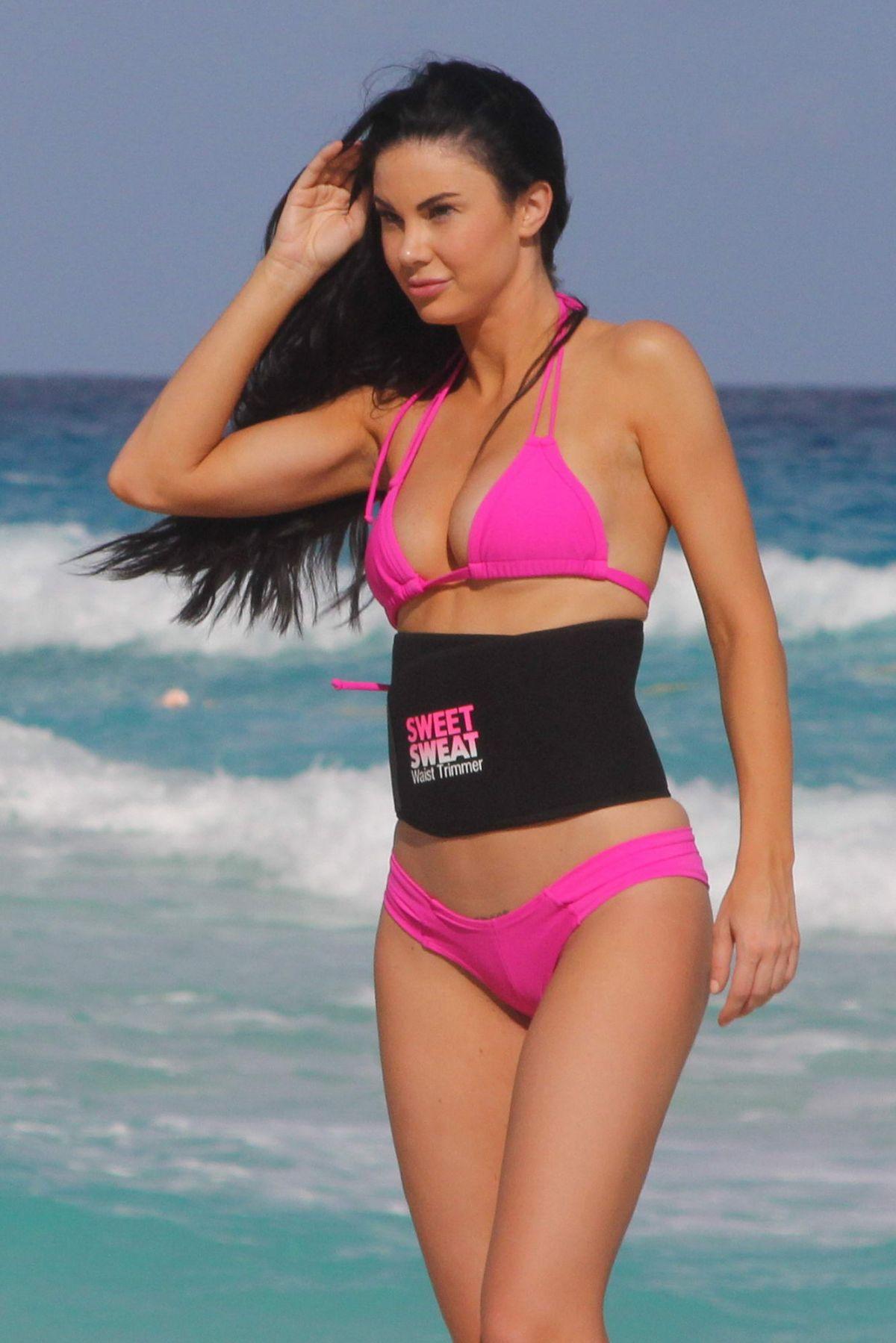 JAYDE NICOLE in Bikini at a Beach in Cancun 02/23/2016