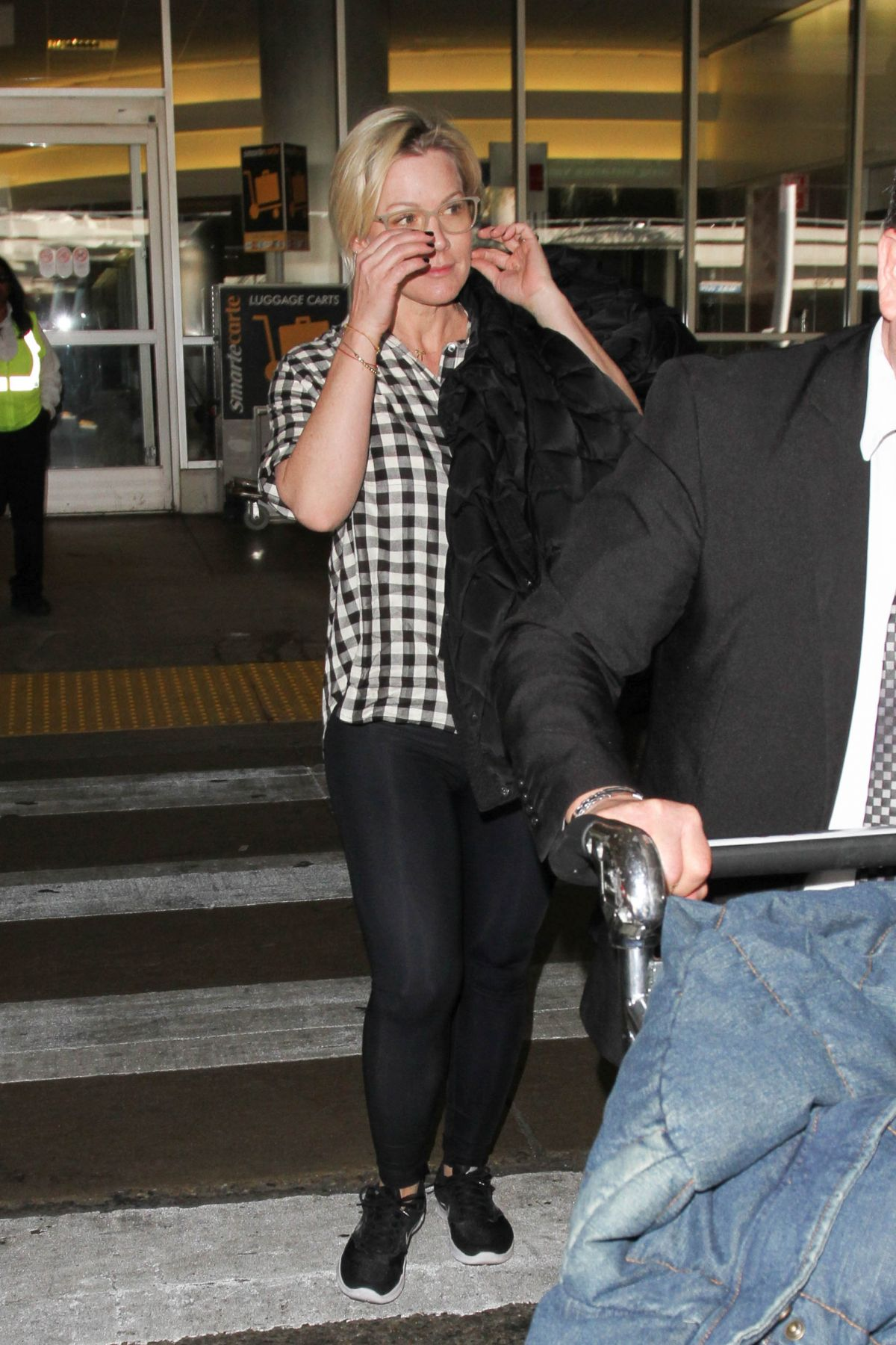 JENNIE GARTH at LAX Airport in Los Angeles 02/11/2016