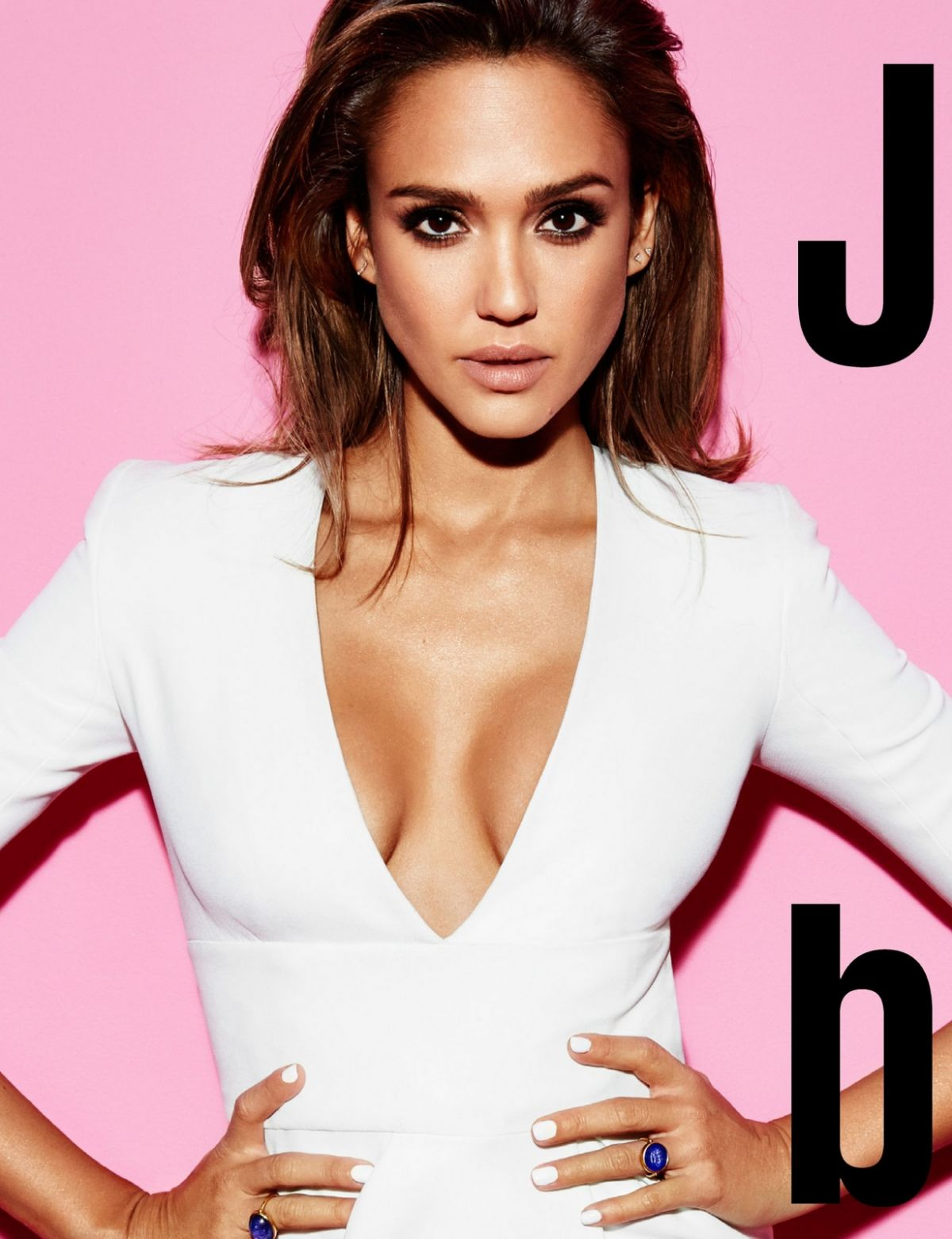 JESSICA ALBA in Cosmopolitan Magazine, UK April 2016 Issue