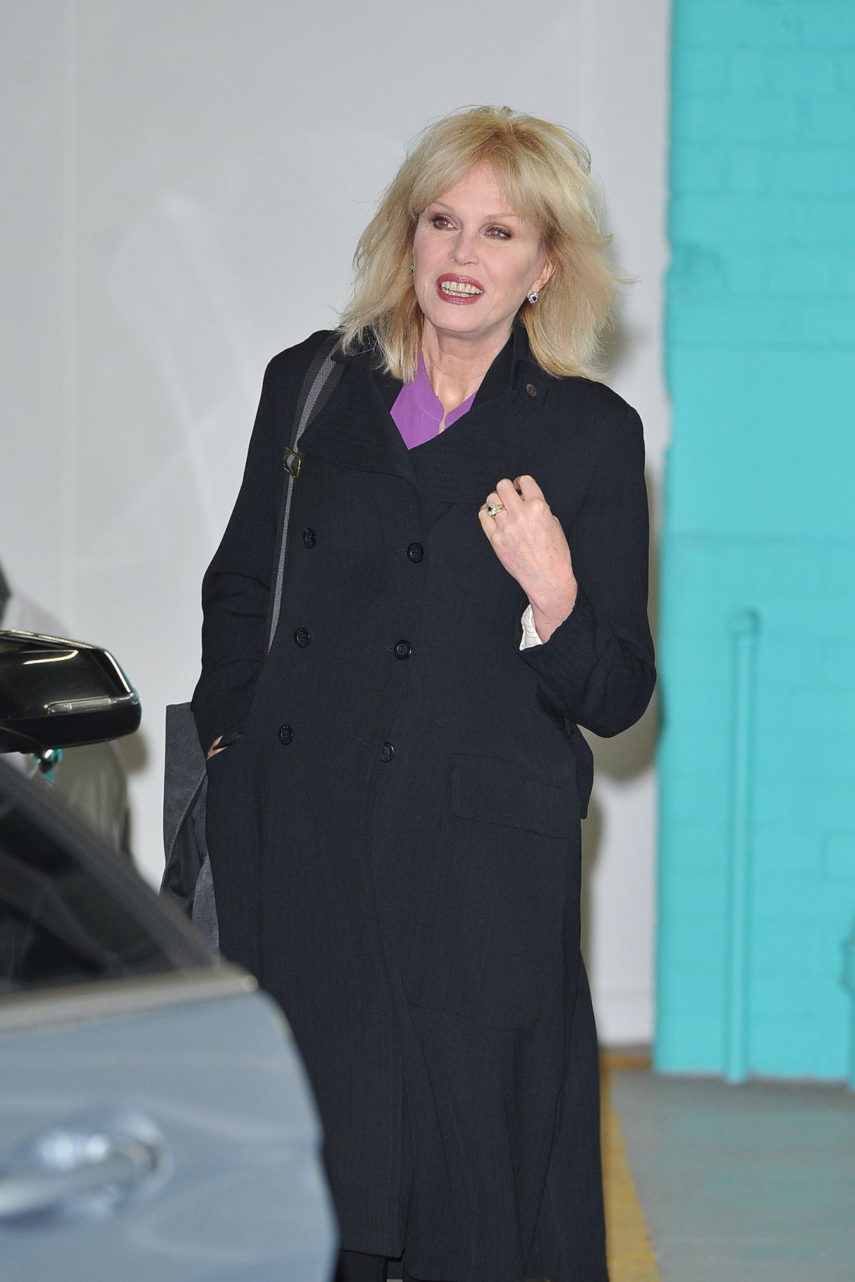 JOANNA LUMLEY Leaves ITV Studios in London 02/01/2016