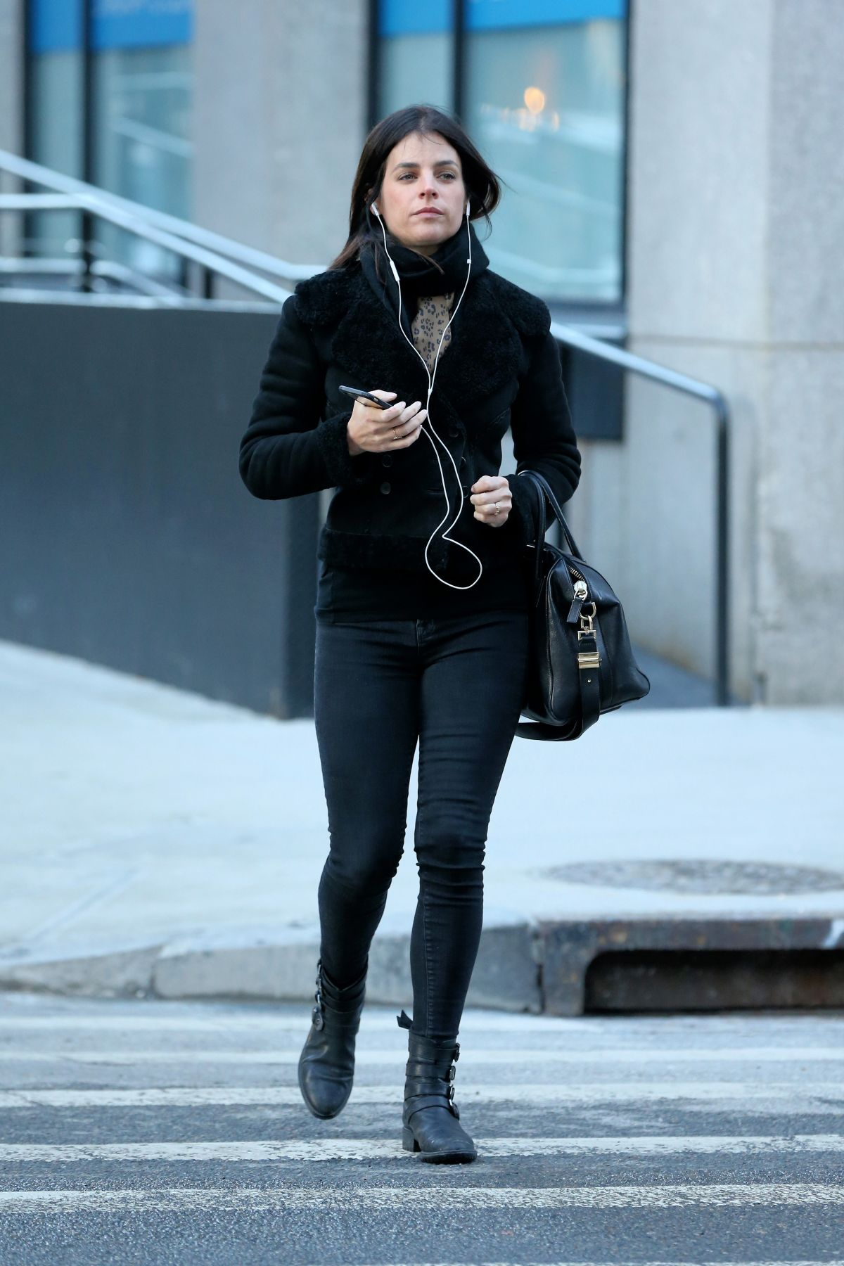 JULIA RESTOIN Out and About in New York 01/27/2016