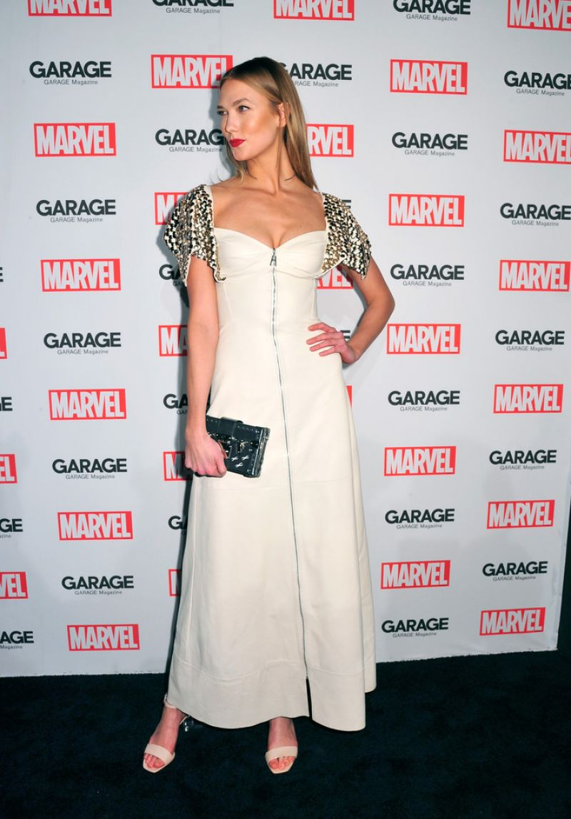 KARLIE KLOSS at Marvel and Garage Magazine New York Fashion Week Event 02/11/2016