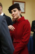 KATE MIDDLETON at RAF Ceremony in Anglesey 02/18/2016