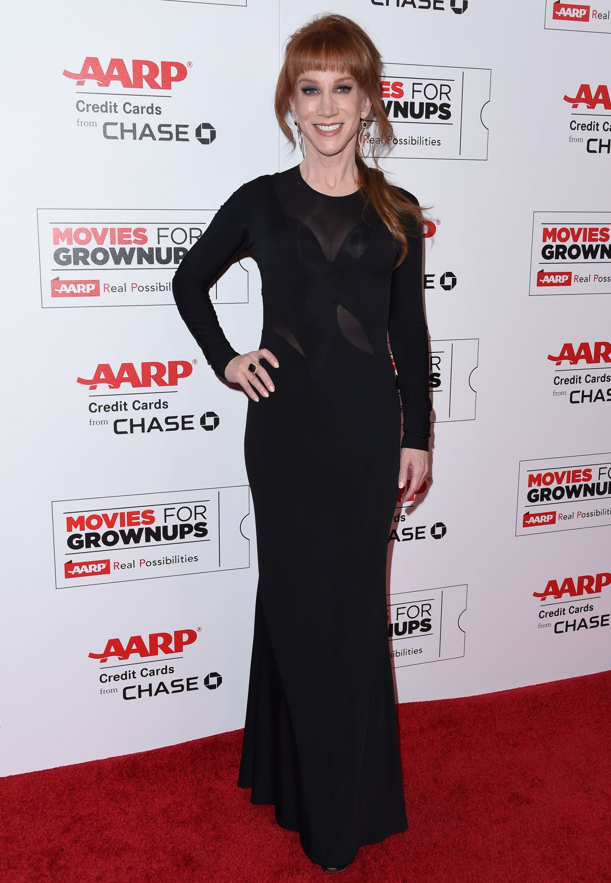 KATHY GRIFFIN at 15th Annual Movies for Grownups Awards in Beverly Hills 02/08/2016