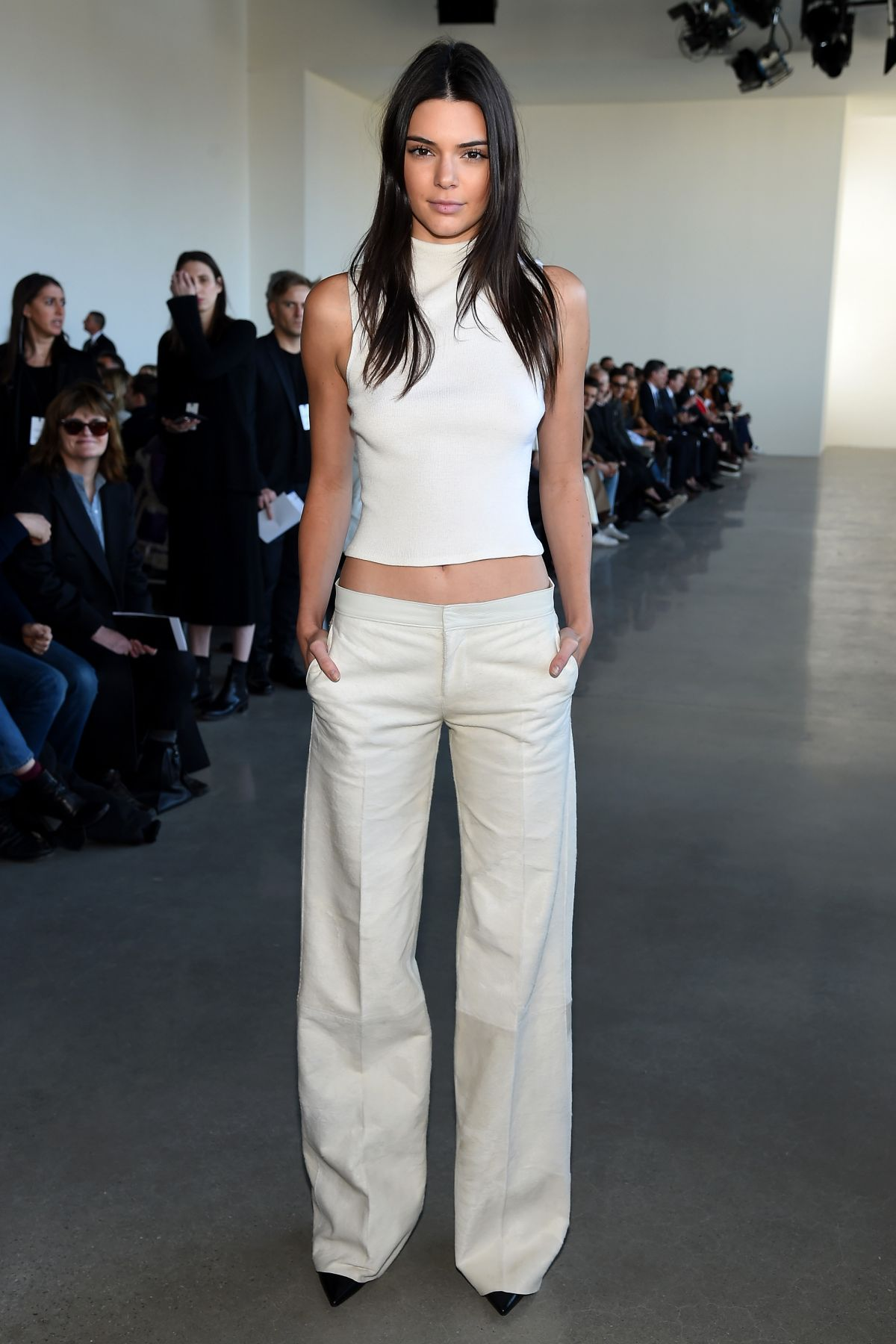 kendall jenner at calvin klein fall 2016 fashion show at