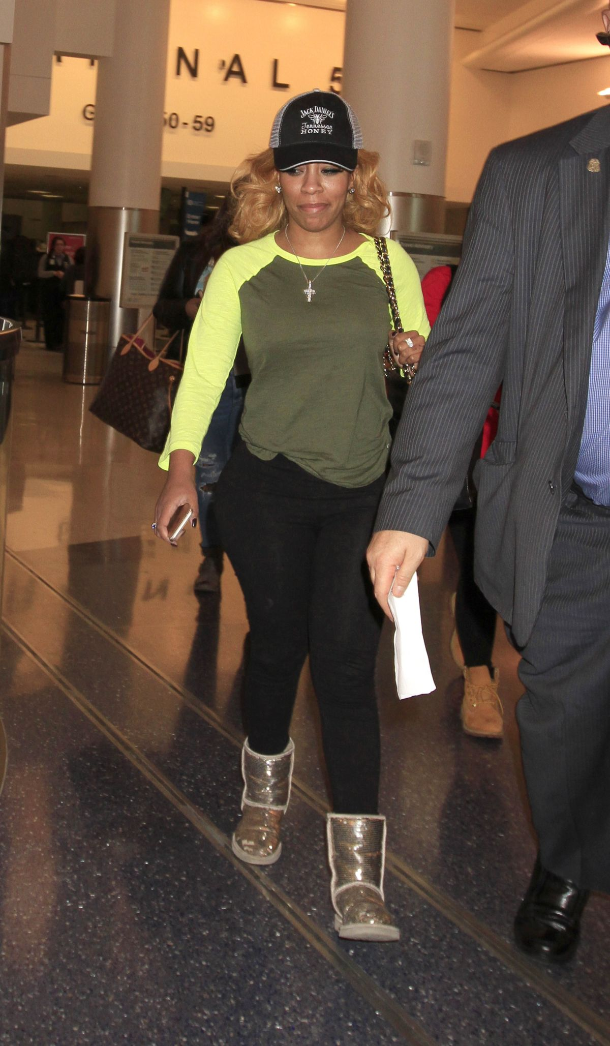KIM BURRELL at LAX Airport in Los Angeles 02/08/2016