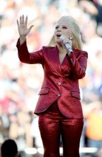 LADY GAGA Performs at Super Bowl 50 at Levi
