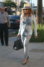 LATOYA JACKSON Out and About in Beverly Hills 02/11/2016