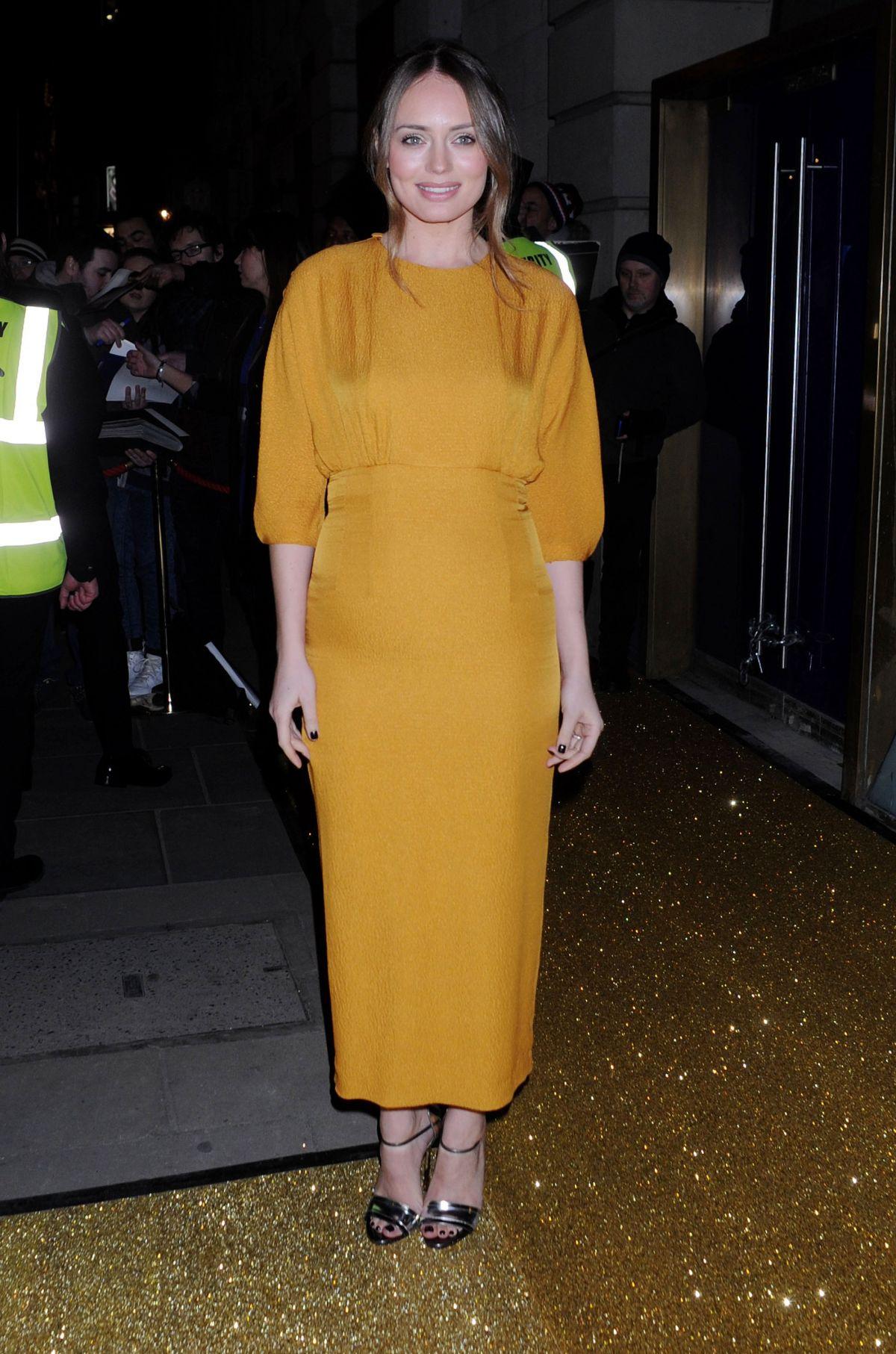 LAURA HADDOCK Arrives at bafta Film Gala Dinner in London 02/11/2016