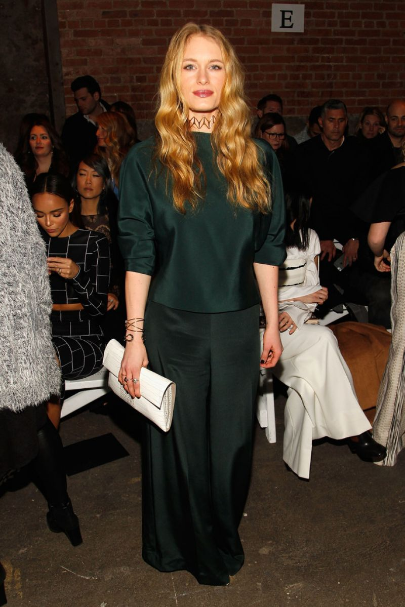 LEVEN RAMBIN at Christian Siriano Fall 2016 Fashion Show at NYFW 02/13/2016