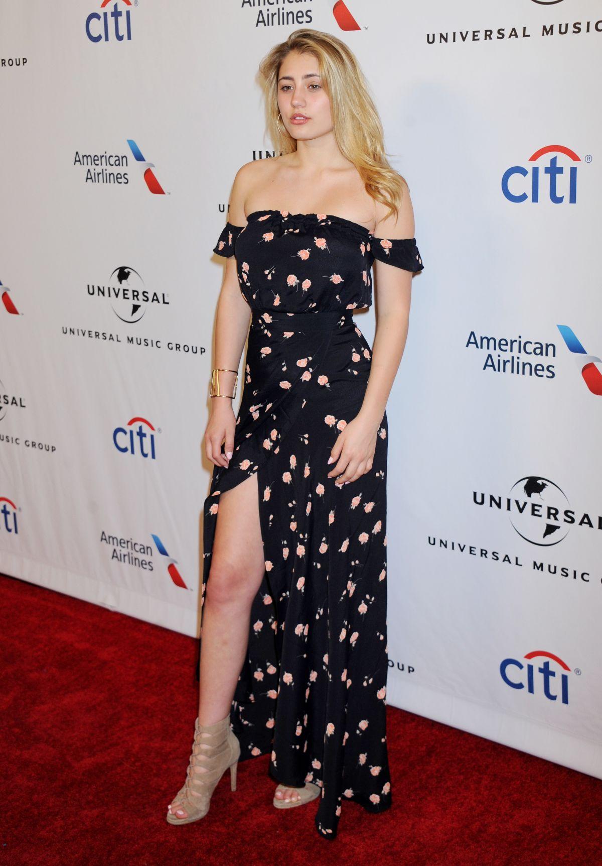 LIA MARIE JOHNSON at Universal Music Group 2016 Grammy